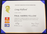 Craig Hofland Paul Fellows Award